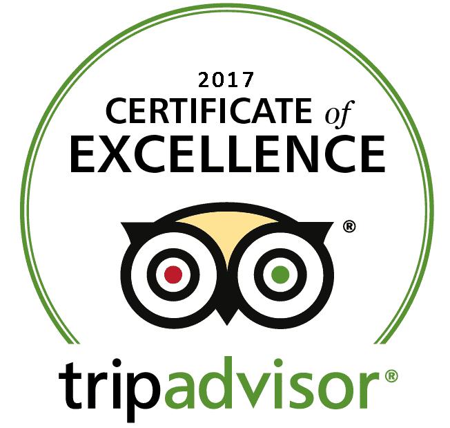 Trip Advisor Award of Excellence 2016