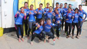 Large group surf lesson 300x170 - Large group surf lesson
