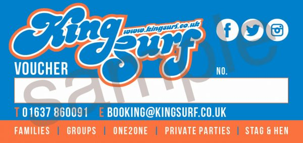 King Surf Voucher - Kingsurf Vouchers