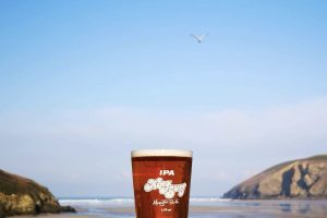 pint of Kingsurf IPA Cornish beer in Mawgan Porth's Merrymoor Inn