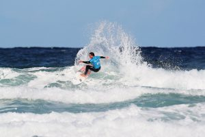 luke dillion surfing at fistral beach in the boardmasters wsl surf and music festival