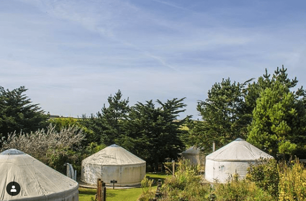 yurt village mawgan porth